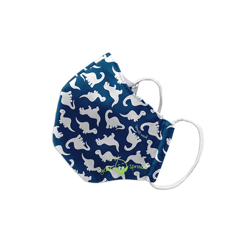 Reusable Face Mask Child-Navy Dino