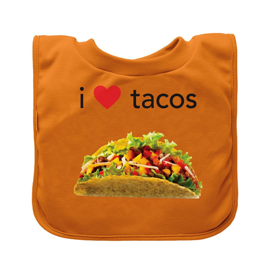 Pull-over Food bib (single)-Orange Tacos-9/18mo