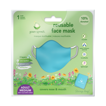 Load image into Gallery viewer, Reusable  Face Mask Adult-Aqua