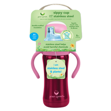 Load image into Gallery viewer, Sippy Cup made from Stainless Steel- 6oz-Pink-6mo+