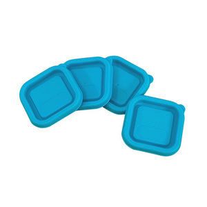 Replacement Lids for Fresh Baby Food Cubes (4pk)-Aqua