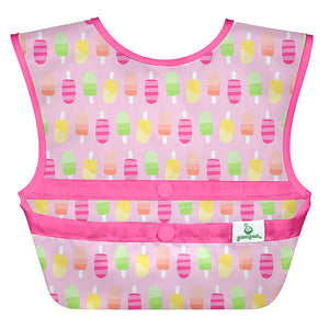 Snap & Go Easy-wear Bib-Pink Popsicles-9/18mo