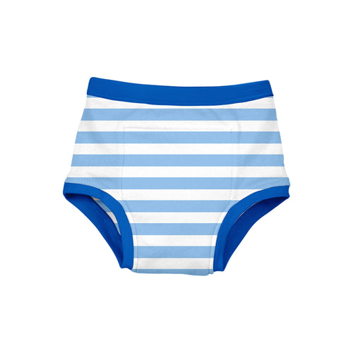 Reusable Absorbent Training Underwear-Light Blue Stripe-