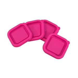 Replacement Lids for Fresh Baby Food Cubes (4pk)-Pink