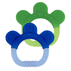 Silicone Teether (2pk)-Blue Set-3mo+