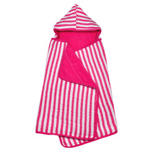 Load image into Gallery viewer, Muslin Hooded Towel made from Organic Cotton-Hot Pink-0mo/4yr