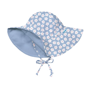 Mix & Match Reversible Brim Sun Protection Hat-Light Blue Blossom