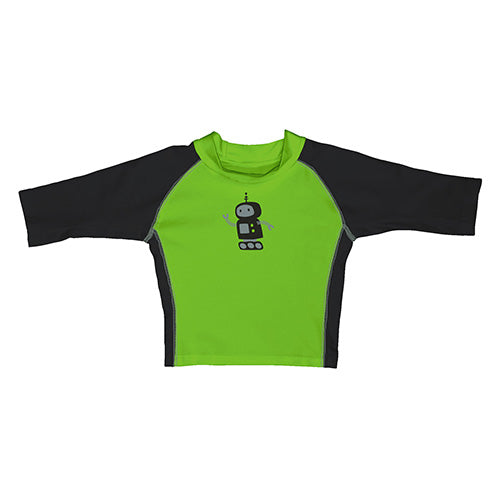 Mod Three-Quarter Sleeve Rashguard - Lime Robot