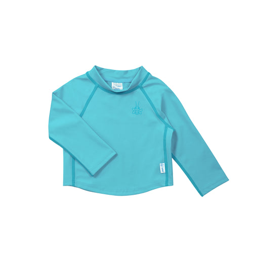 Long Sleeve Rashguard Shirt-Aqua
