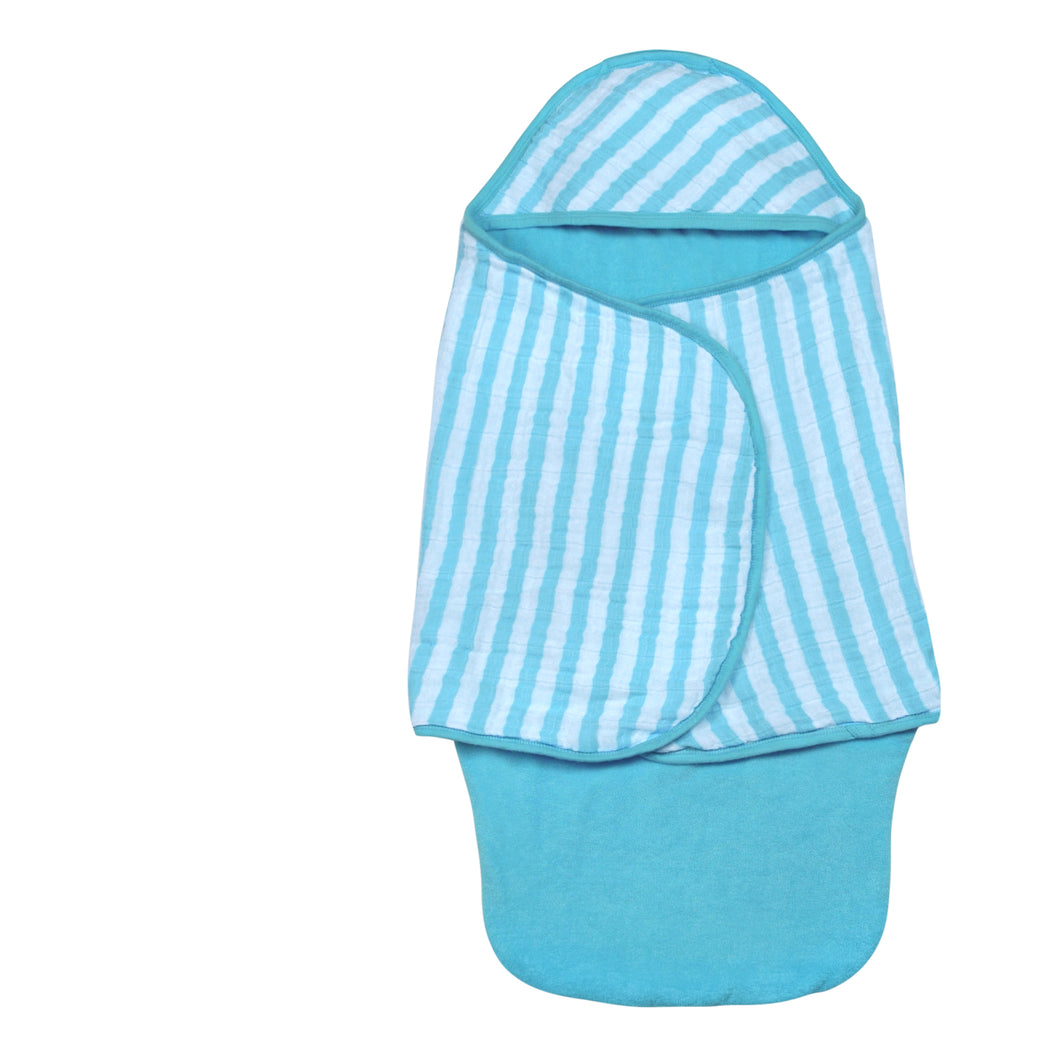 Bath Swaddle Aqua