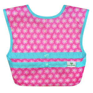 Snap & Go Easy-wear Bib-Pink Flower Geo-9/18mo