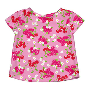 Classics Cap Sleeve Rashguard-Light Pink Berries