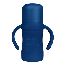 Load image into Gallery viewer, Sprout Ware Sippy Cup made from Plants-6oz-Navy-6mo+