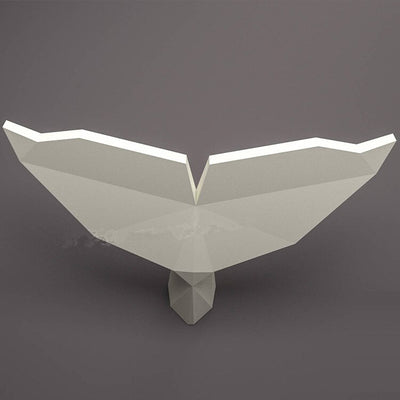 Queue de baleine en origami 3D Zoom