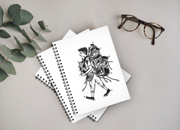 Set of Two Notebook by Bombay Doodler