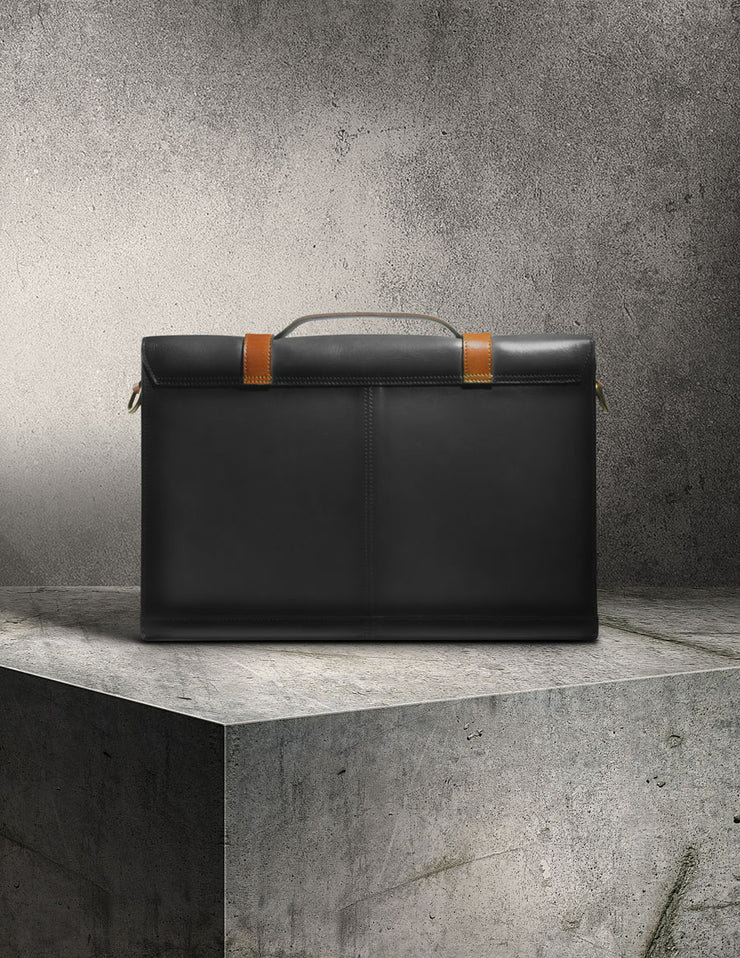 Havana Briefcase - Charcoal