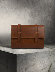 Oslo Laptop Sleeve- Tan Leather