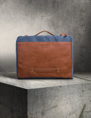 Lisbon Vegan Leather and Canvas Office Bag