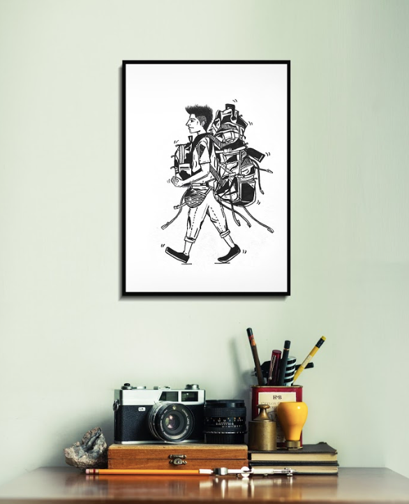 Set of Two Wall Arts by Bombay Doodler