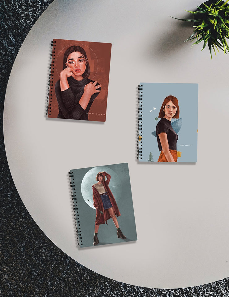 Set of Three Notebooks by Roshan