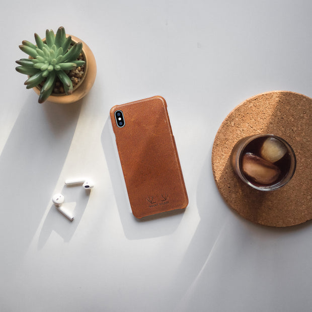 Oslo iPhone X Case - Tan (Brown)