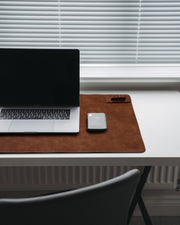 Leather Desk Mat in Tan