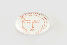 Hand Painted Face Dinner Plate