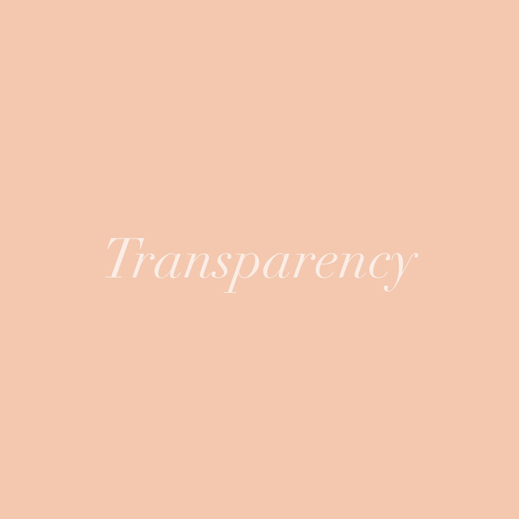 Transparency and what it means to us.
