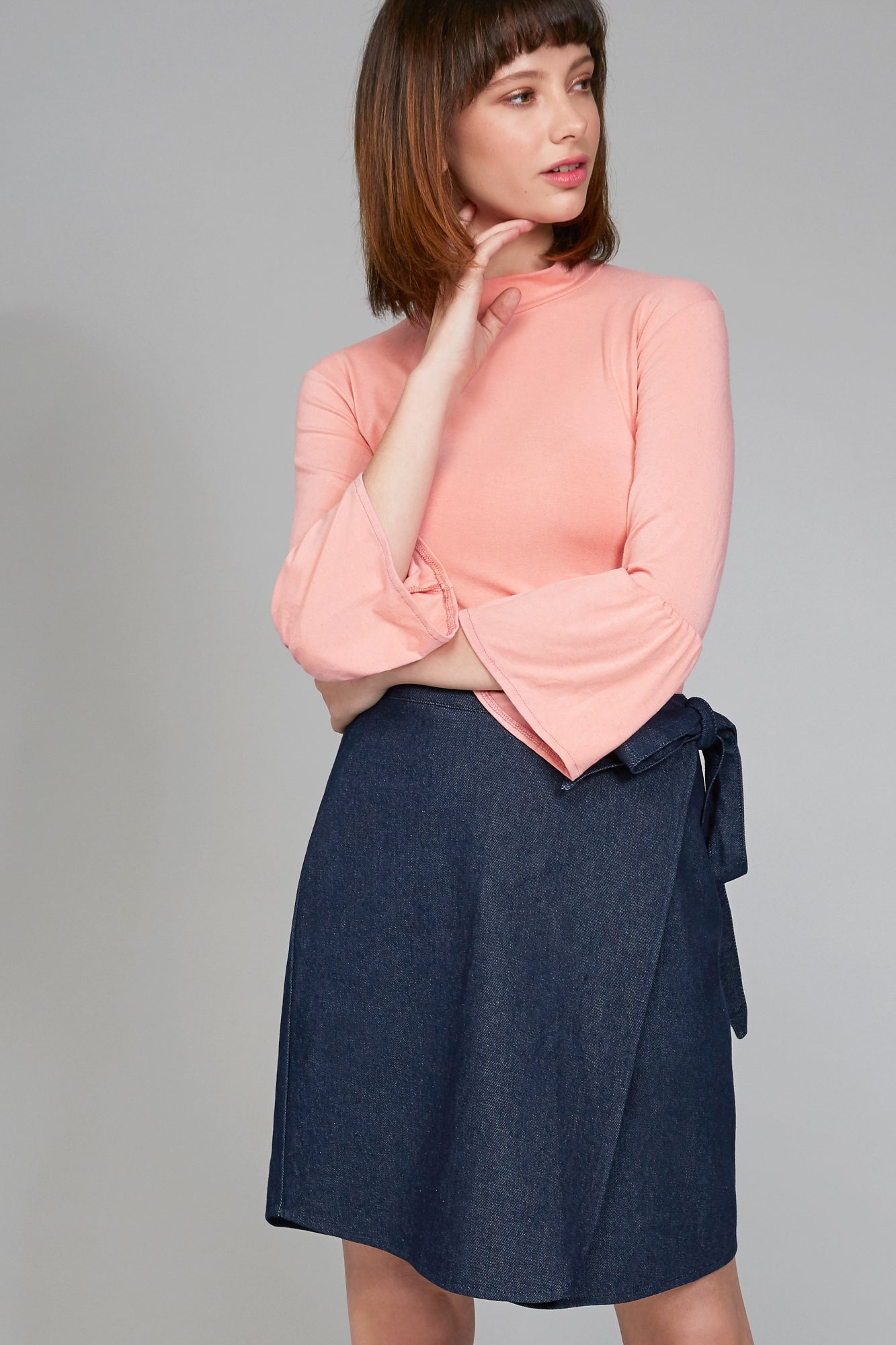 Sooji Denim Skirt - Ricepaperthelabel