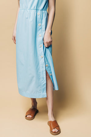 Makka Dress With Buttons - Ricepaperthelabel