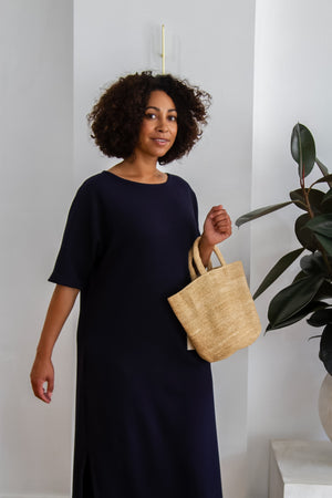 Oyama Knit Dress - Textured Navy PRE ORDER FOR SHIPMENT 4TH MARCH - Ricepaperthelabel
