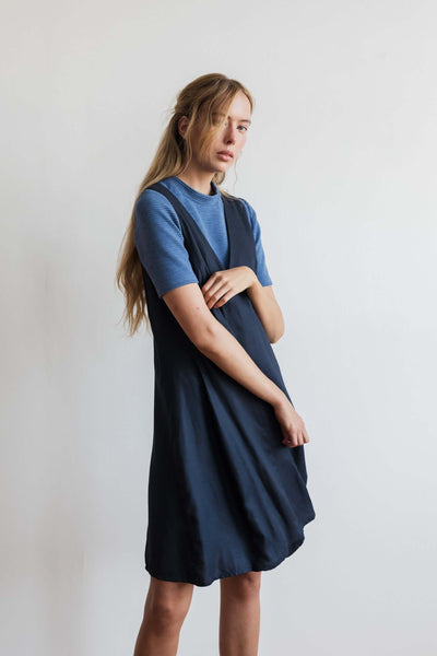 Argyle Pinafore Dress Navy - Ricepaperthelabel