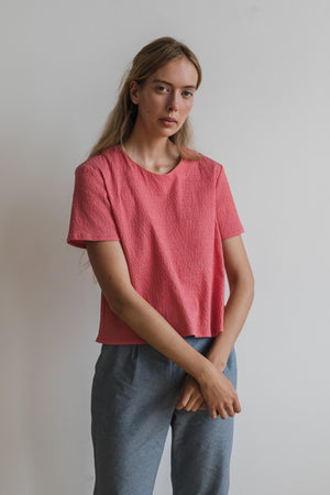 Luster S/S Top - Fuchsia - Ricepaperthelabel