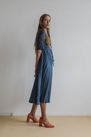Glaze Dress - Midnight Blue - Ricepaperthelabel