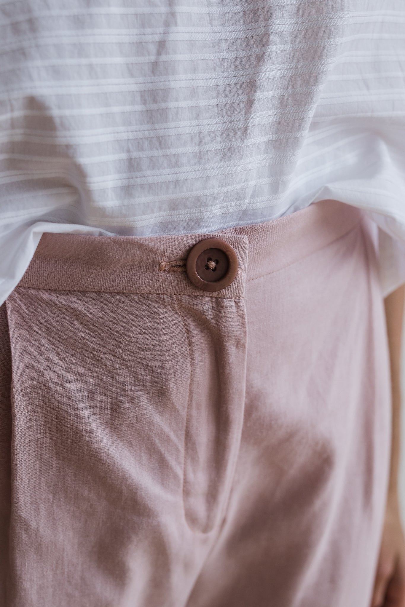 Kiln Tailored Pant - Blush - Ricepaperthelabel