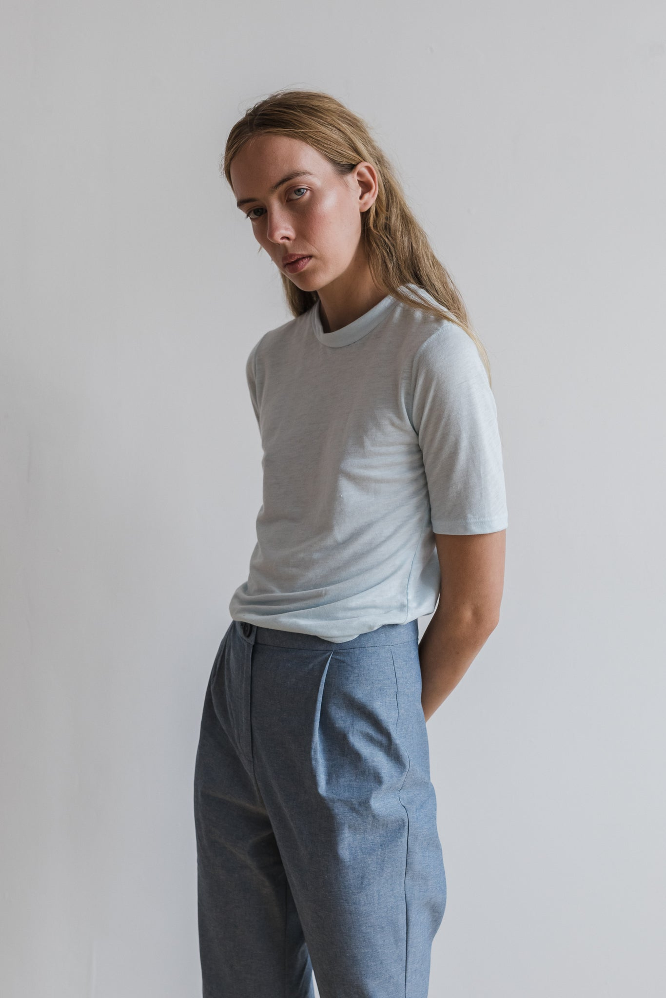 Kiln Tailored Pant - Chambray - Ricepaperthelabel