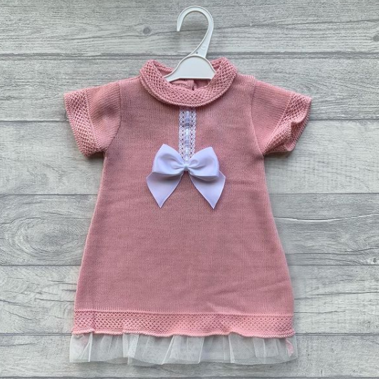Baby rose knit jumper dress