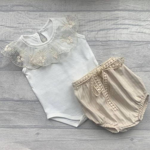 'Belle' lace bodysuit and bloomers set