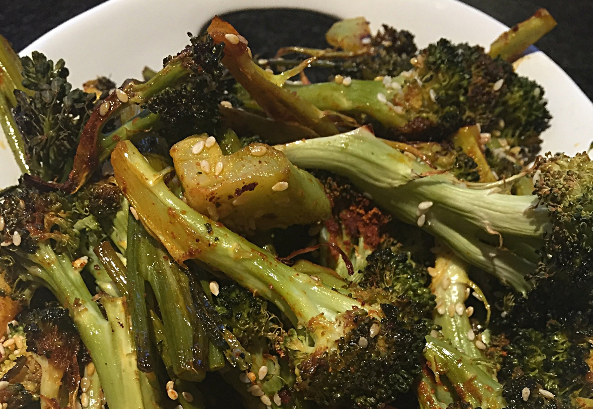 Roasted Broccoli, Magically Spiced