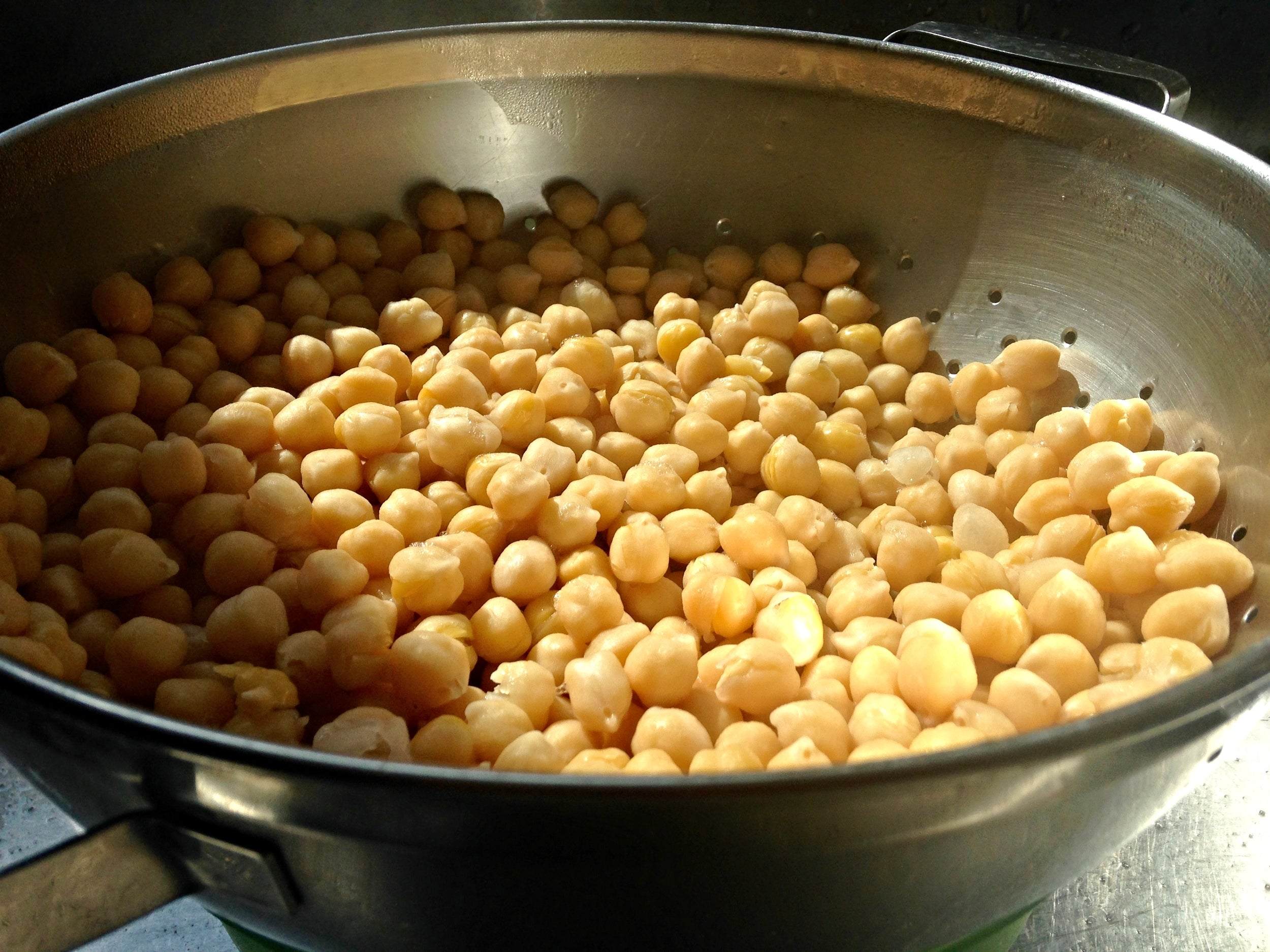 Cooked chickpeas. You can replace these with cooked, canned chickpeas
