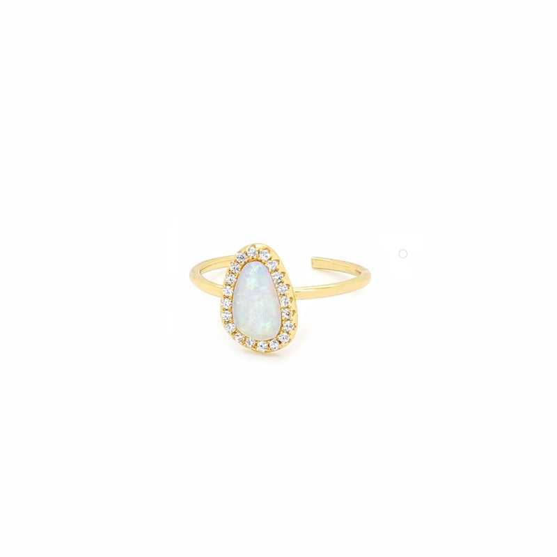 Opal Adjustable Ring