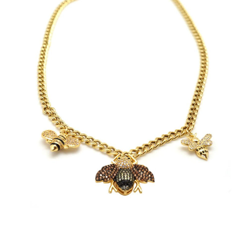 Bumble Bee Bling Necklace