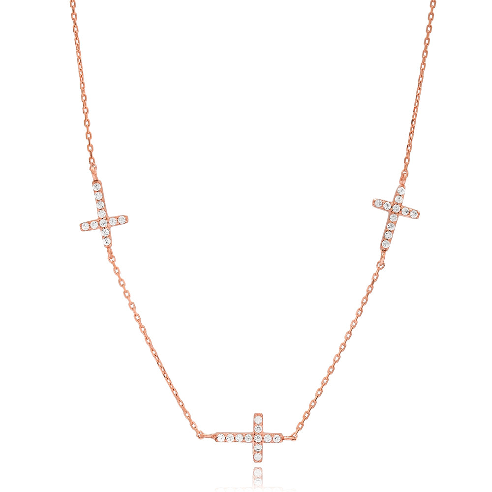 3 Cross Necklace