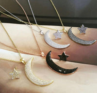 Bling Crescent Moon