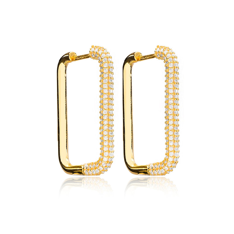 Rectangle Bling Earrings