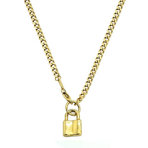 Lock Cuban Link Necklace