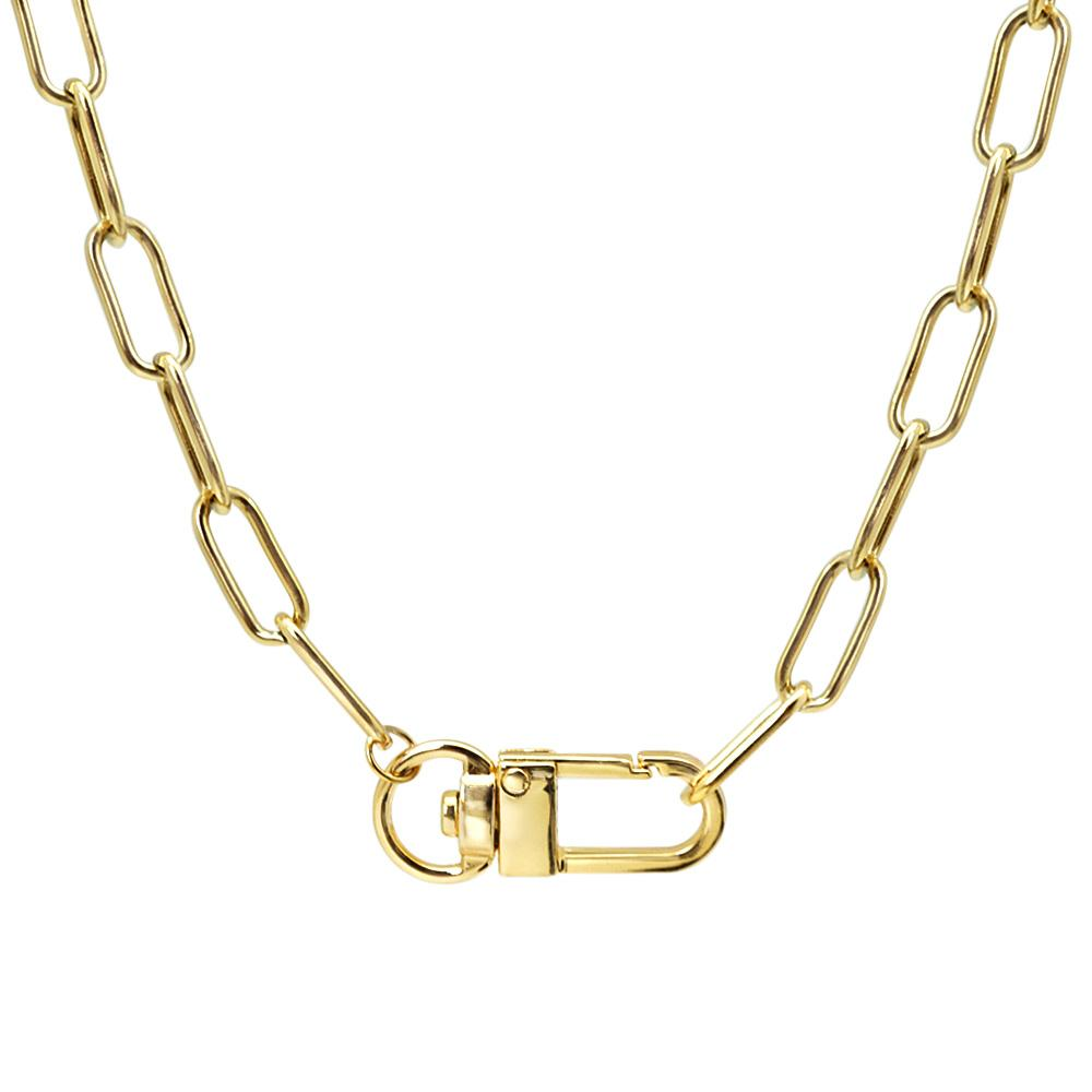Lobster Claw Oval Chain Link Necklace