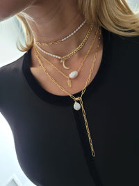Pearl & Feather Necklace