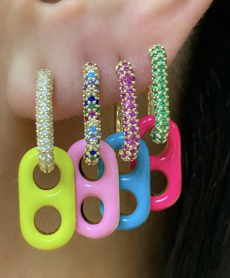 Soda Cap Neon Earrings