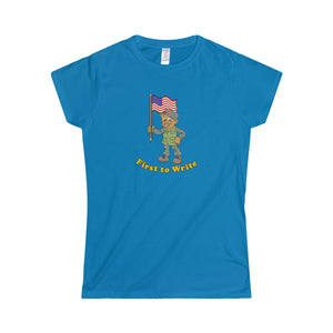 """First to Write"" Women's Softstyle Tee"